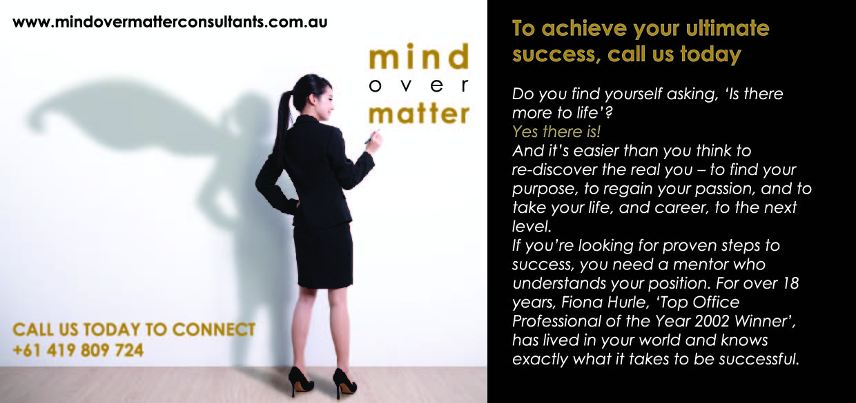 Mind Over Matters - DL Flyer