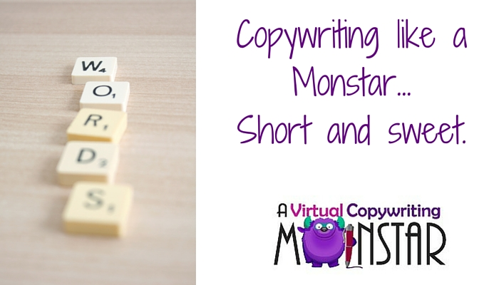 Copywriting like a Monstar – short and sweet