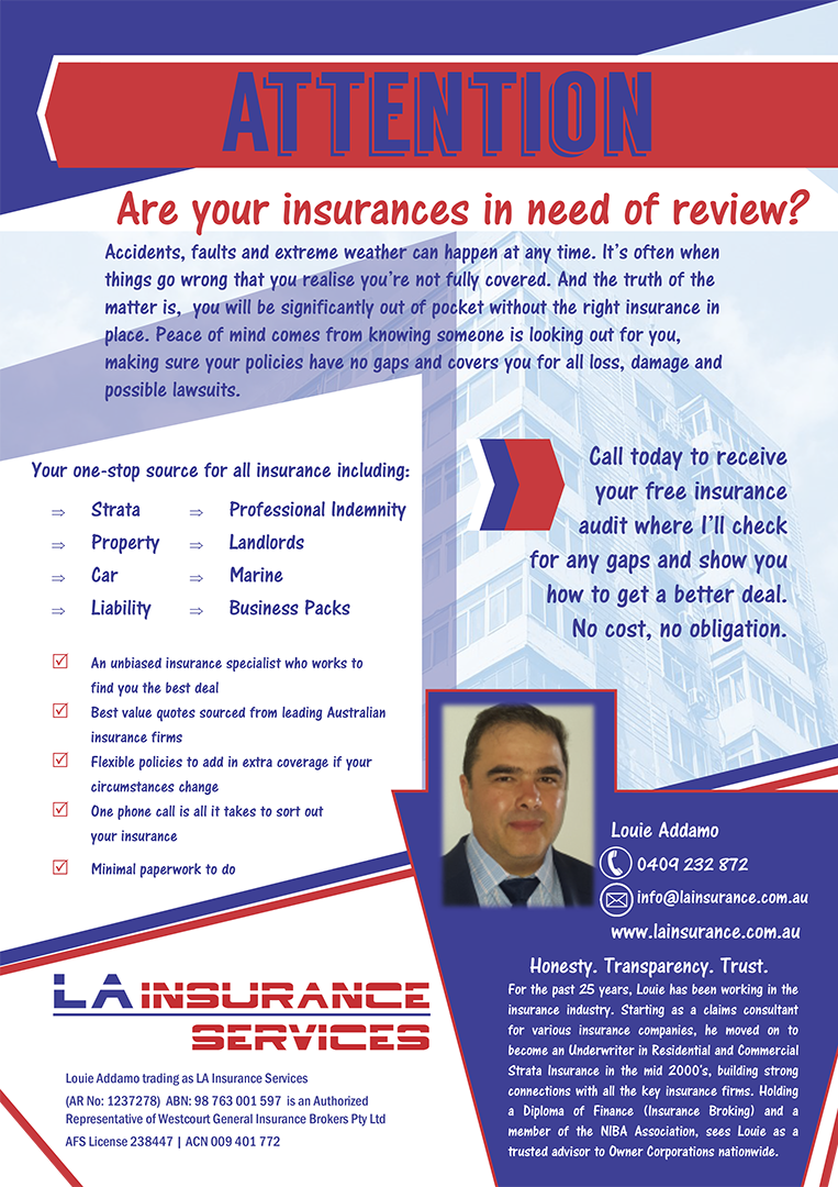 LA Insurance Services - Flyer Copywriting
