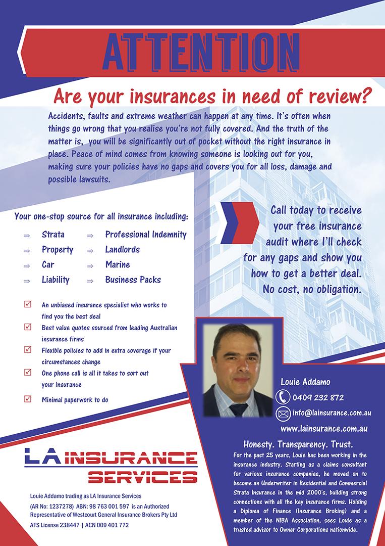 LA Insurance Services - Flyer Copywriting