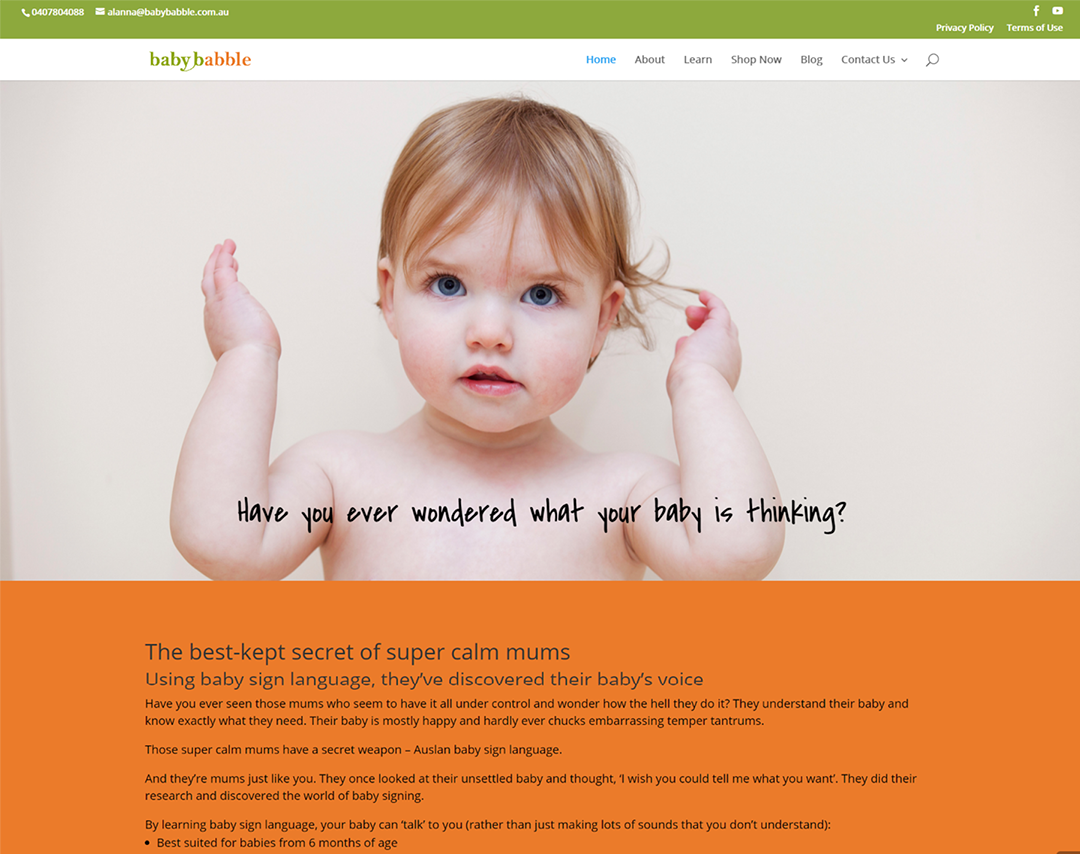 Baby Babble - Website Copywriting