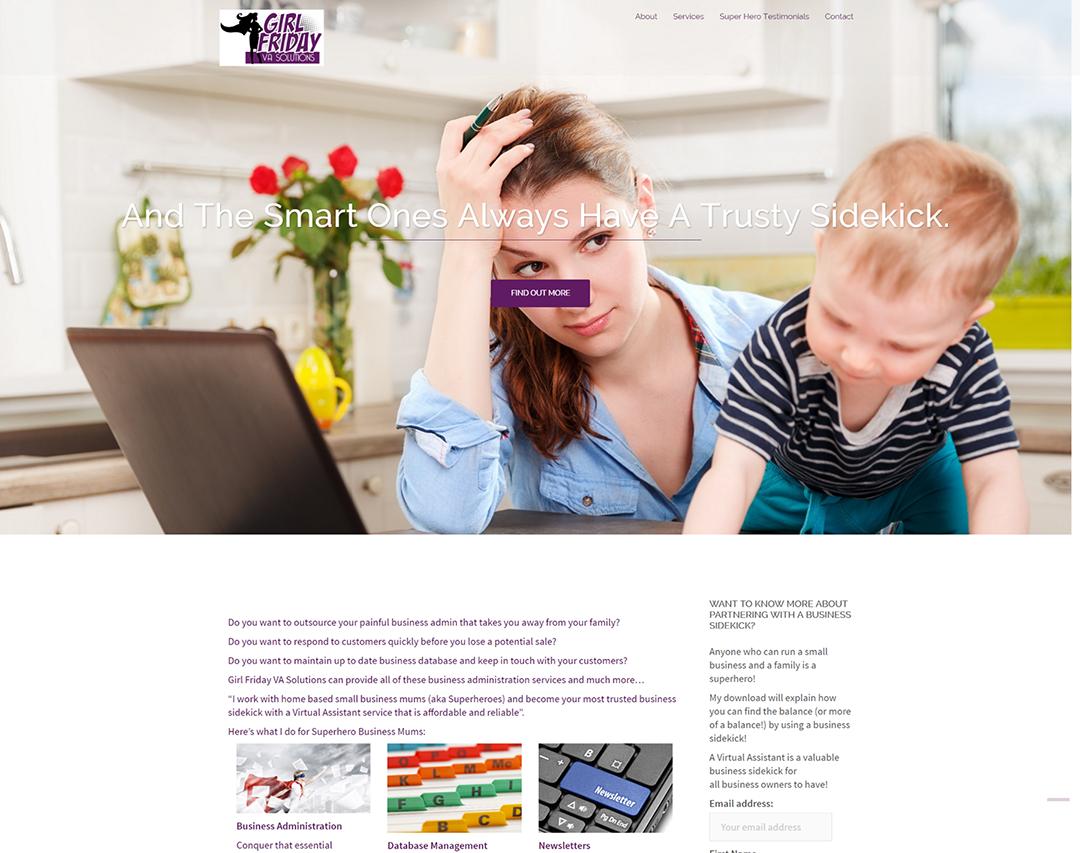 Girl Friday VS Solutions Website Copywriting