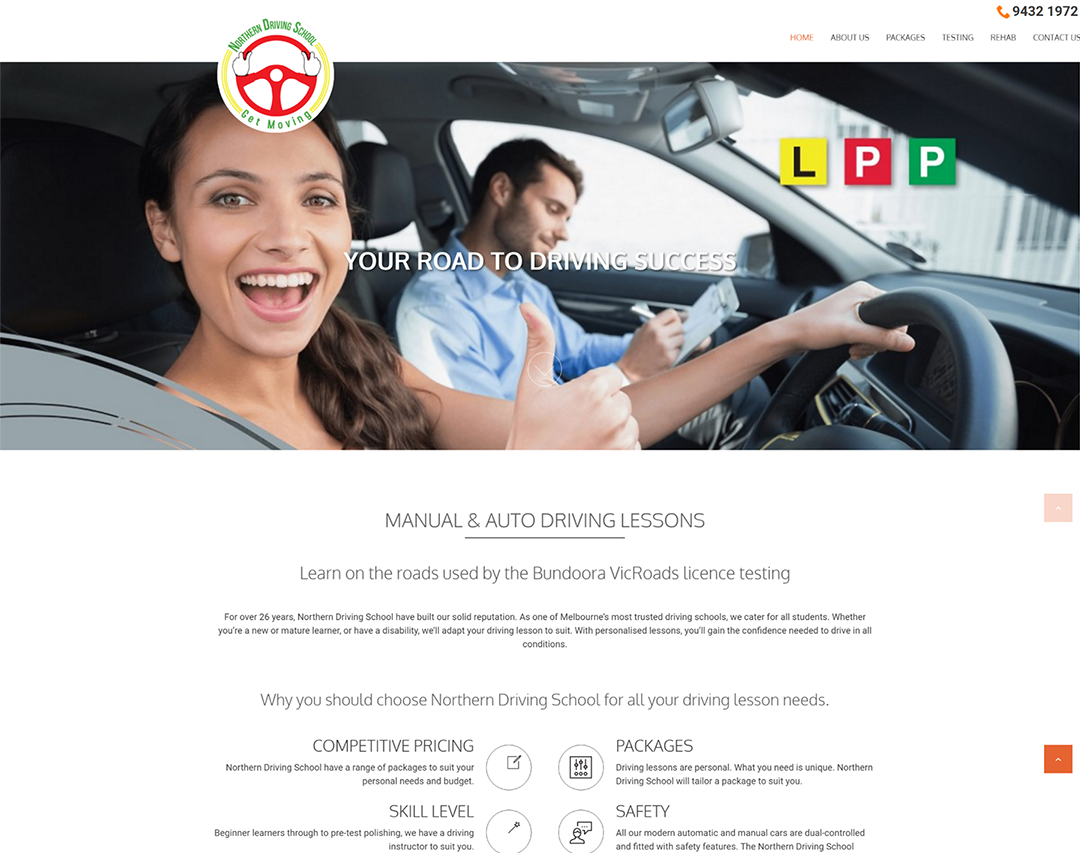 Northern Driving School - Website Copywriting