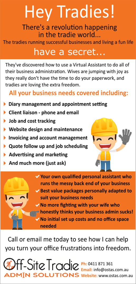 Off-Site Tradie - Flyer Copywriting
