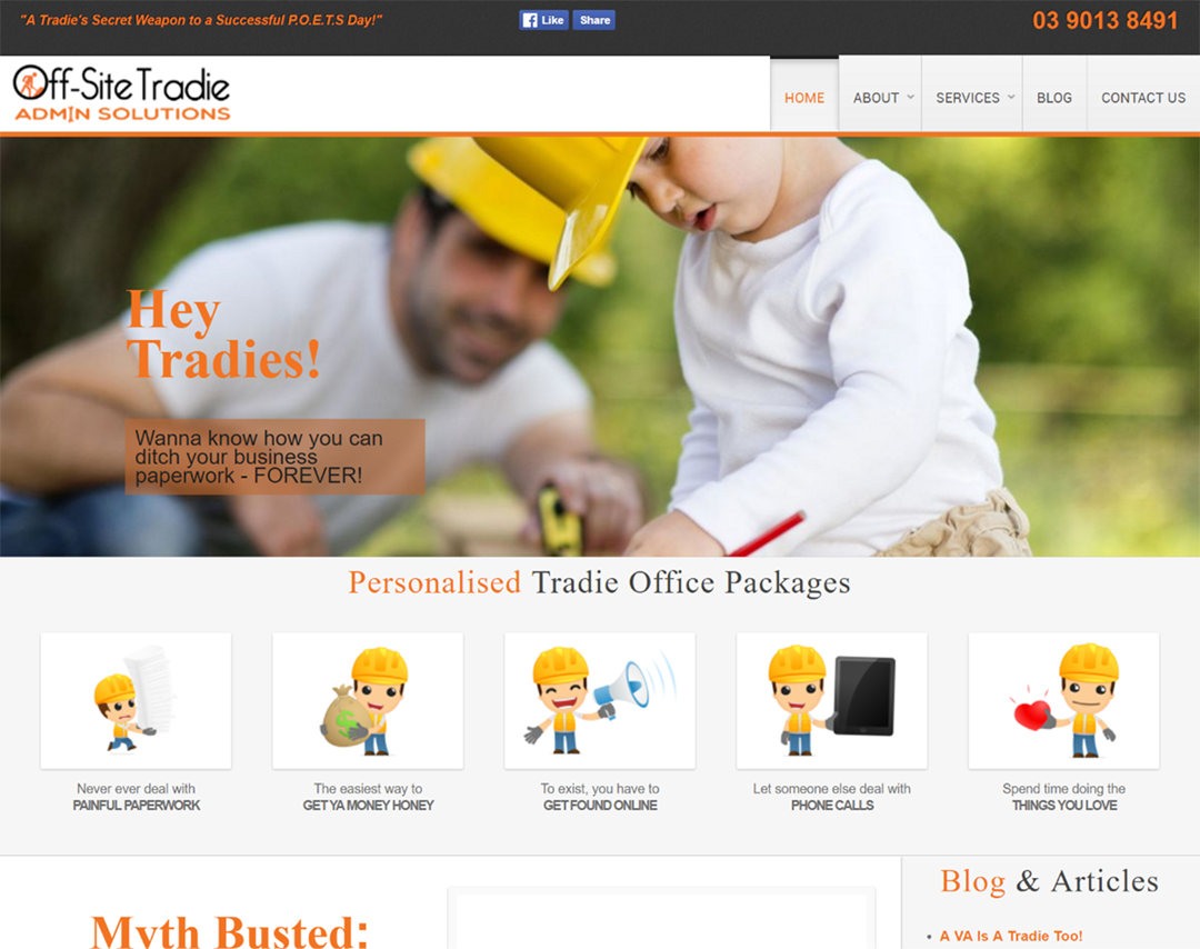 Off-Site Tradie Admin Services - Website Copywriting