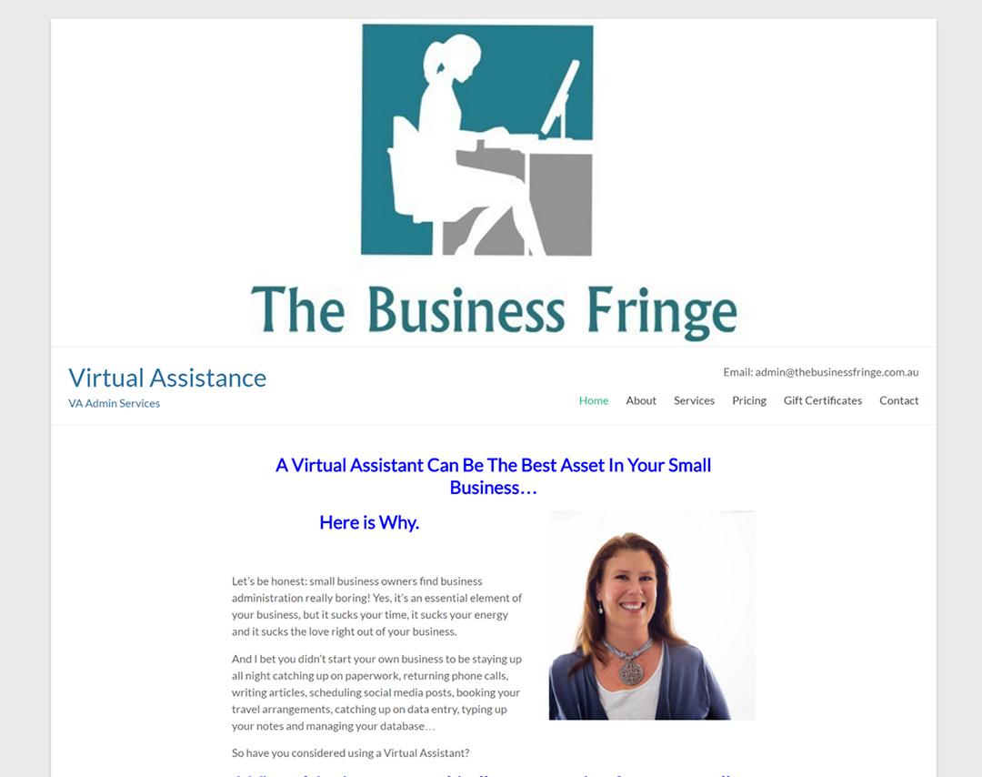 The Business Fringe - Website Copywritiing