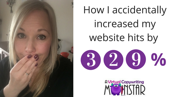 How I accidentally increased my website hits by 329.03%