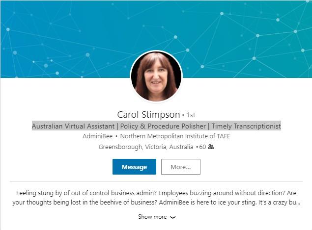 Carol LinkedIn