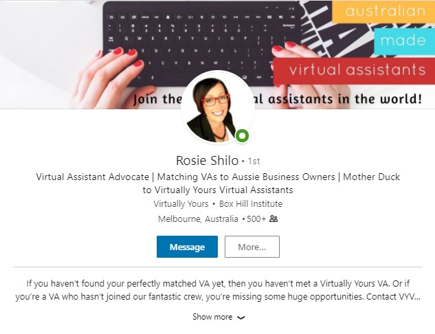 Rosie LinkedIn
